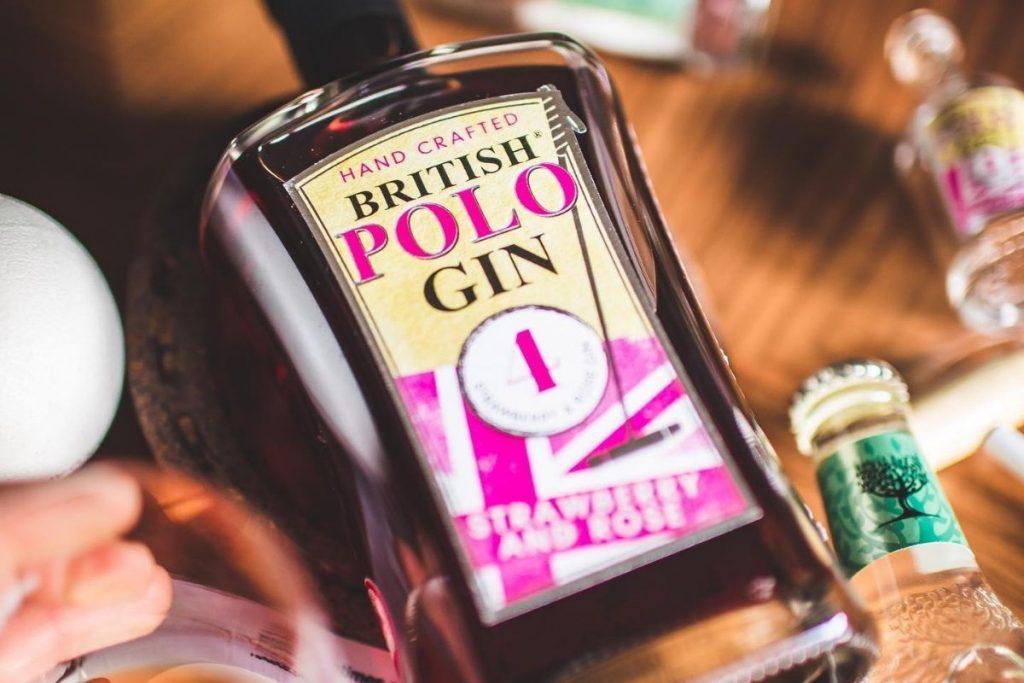 British Polo Gin - Strawberry & Rose Bottle