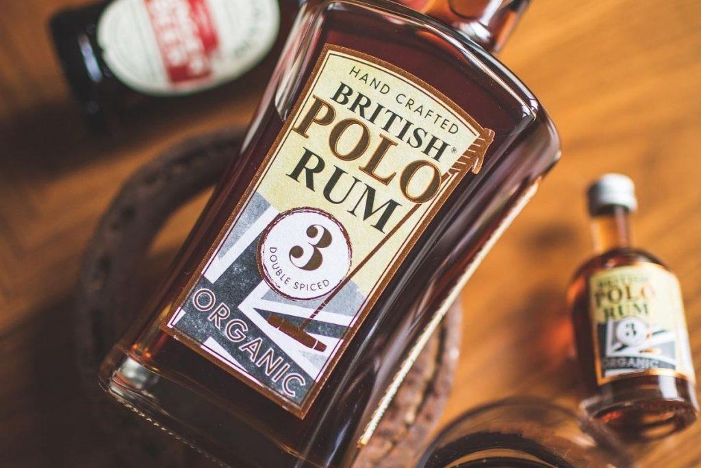 British Polo Rum Bottle